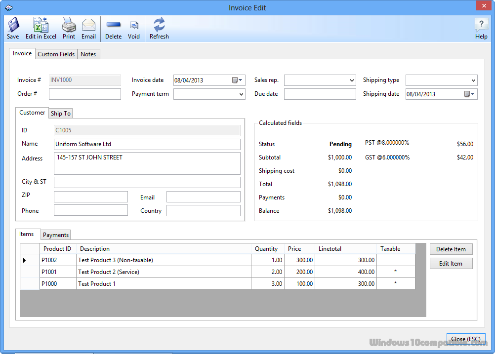 invoice freeware
